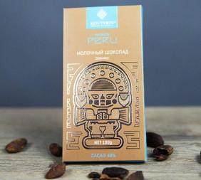 Органический молочный шоколад 48% Peru Maranon